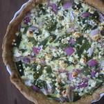 Feta Asparagus Quiche