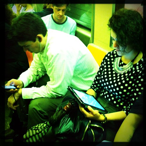 Devices on the subway
