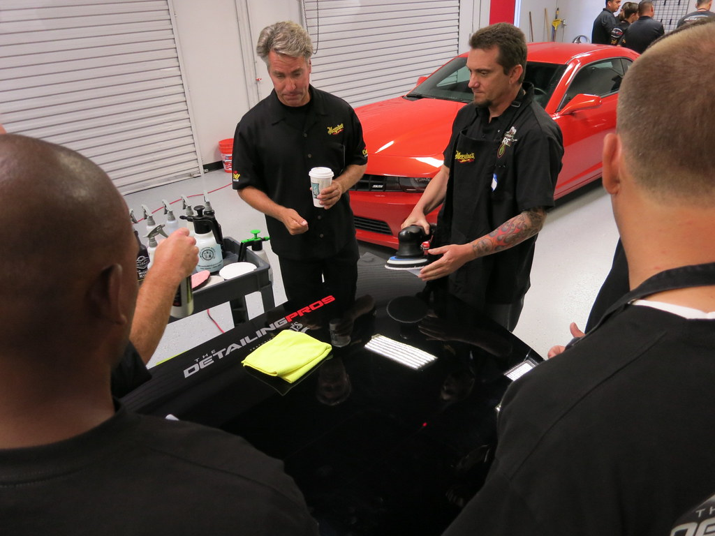 Detailing demonstration at the California Car Care Expo Day 2