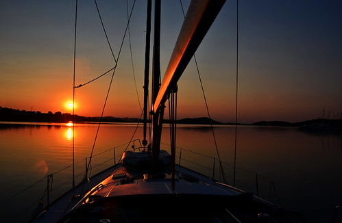 sea sunrise nikon sailing croatia zut