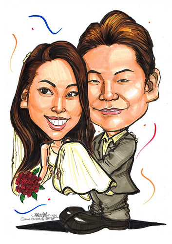 wedding couple caricatures 19072013