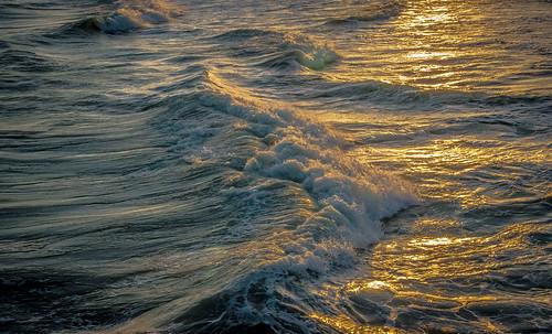 sunset beach wave marc714