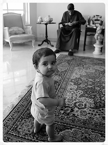 Nerjis Asif Shakir 9 Month Old Meets Mr Rajesh Khanna by firoze shakir photographerno1
