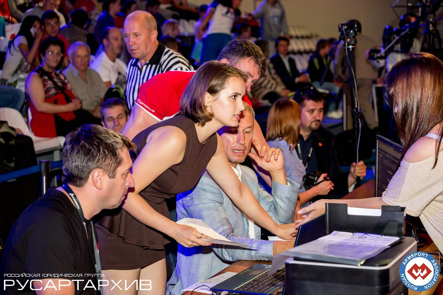 Olesya Romanenko, Nicholas Mishta, Alexander Filimonov │ A1 RUSSIAN OPEN 2013, Photo Source: armsport-rus.ru