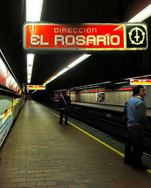 El metro DF, mexico; Direccion El Rosario (2013)