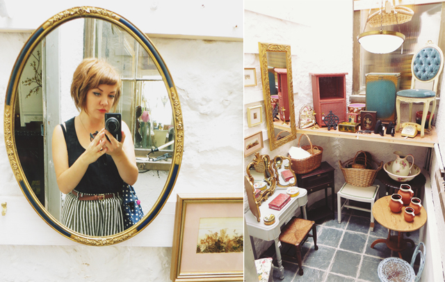 vintage mirror and furniture