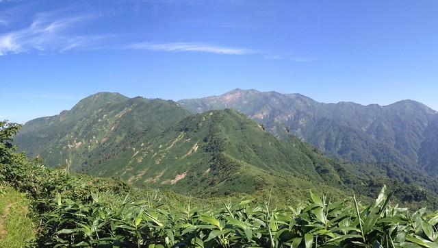 銚子ヶ峰 山頂からの眺望 別山