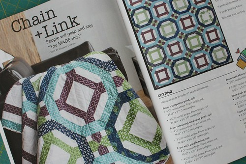 My Chain + Link pattern in the Sept/Oct issue of Quilty