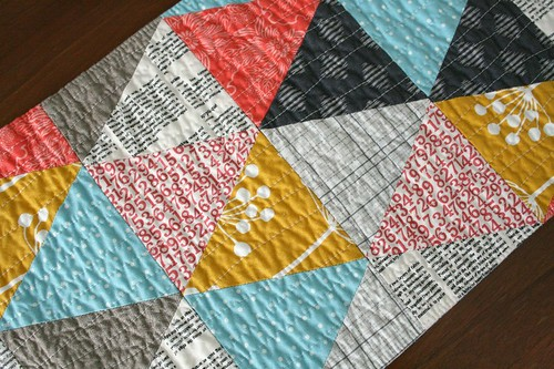 triangles table runner