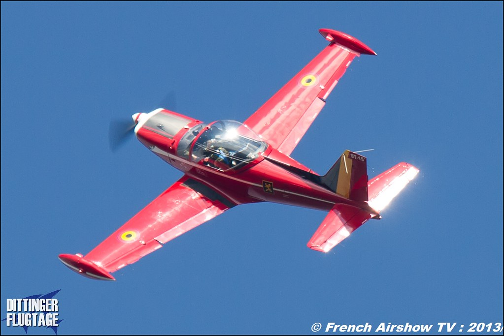 Patrouille Belge Red Devils Dittinger Flugtage 2013