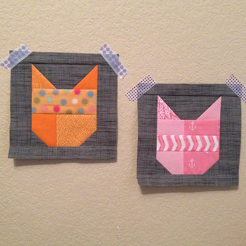 And then there were two... #thecatblock #40thbirthdaycatquilt