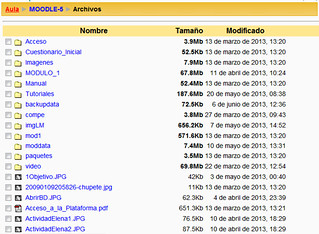 Archivos en Moodle 1.9