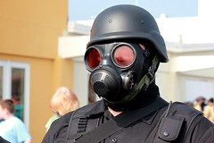costume(0.0), personal protective equipment(1.0), clothing(1.0), gas mask(1.0), mask(1.0), headgear(1.0),
