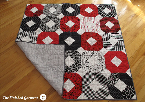 "Red ""X""s and ""O""s quilt."
