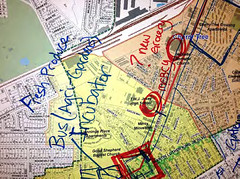 working map from the charrette (courtesy of Augusta Sustainable Development Implementation Program)