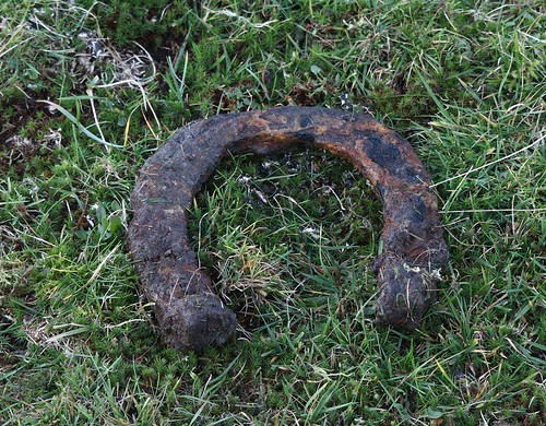Horse shoe from the entrance to one of the levels at Caer Lan