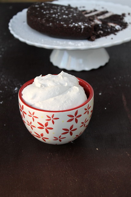 Red Wine Chocolate Cake (dairy free) with Coconut Whipped Cream (vegan & gluten free)