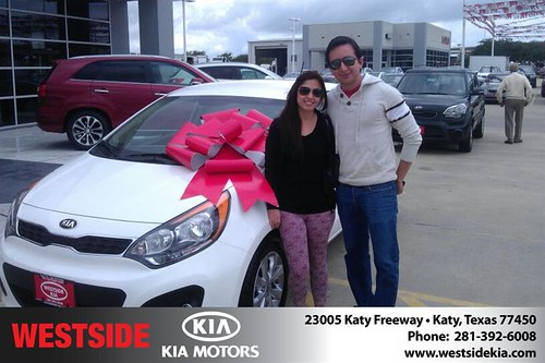 Thank you to Luis Espinosa on your new 2013 #Kia #Rio from Orlando Baez and everyone at Westside Kia! #LoveMyNewCar by Westside KIA