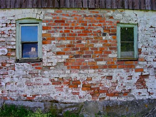 brick window wall bricks tegel