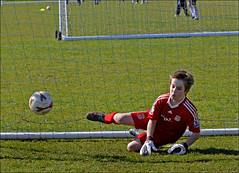 Sat 10 April 2010. - Monkton Youth Football Club, The Recreation Ground, Monkton. - Under eight goalkeeper....
