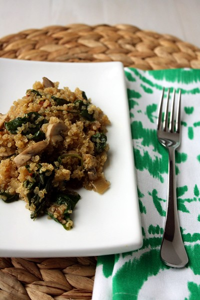 Spinach Bacon Quinoa
