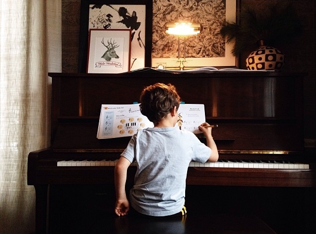 A musician in the making.
