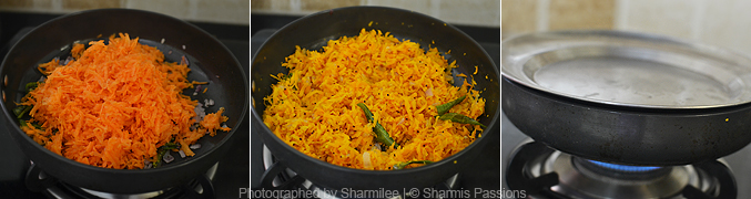 How to make carrot poriyal - Step2