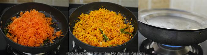 How to make carrot poriyal - Step2