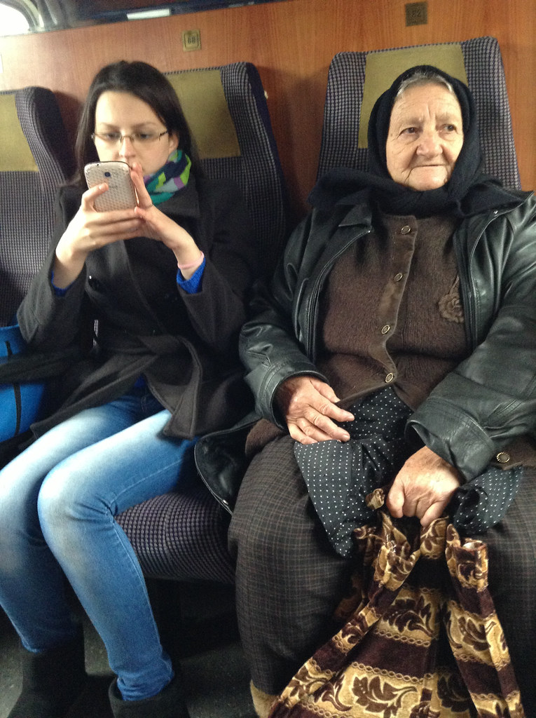 Our fellow Romanian train companions