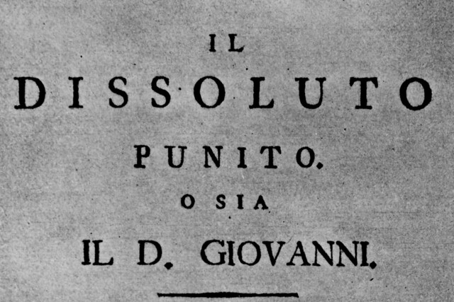 Title page of the libretto for Don Giovanni, 1787