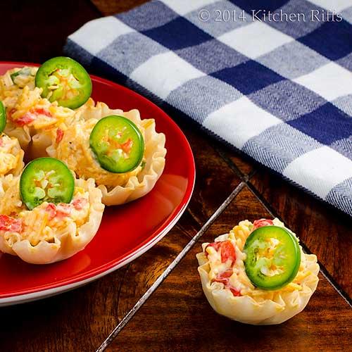 Jalapeño Pimento Cheese Canapés