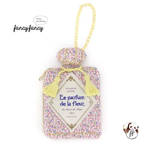 71.繽紛小花香水瓶造型隨身紙巾袋-粉紅