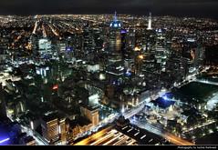 View from Eureka Tower @ Night, Melbourne, Australia