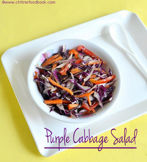 Purple Cabbage/Red Cabbage Salad Recipe