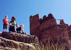 Misfa Fort.  Climbed to top to find the entrance to the fort a little inaccessible for little people and me!