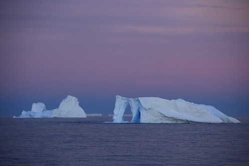 In The Twilight Zone  Natural Arch Sculptured Iceberg Antarctica (Explored)