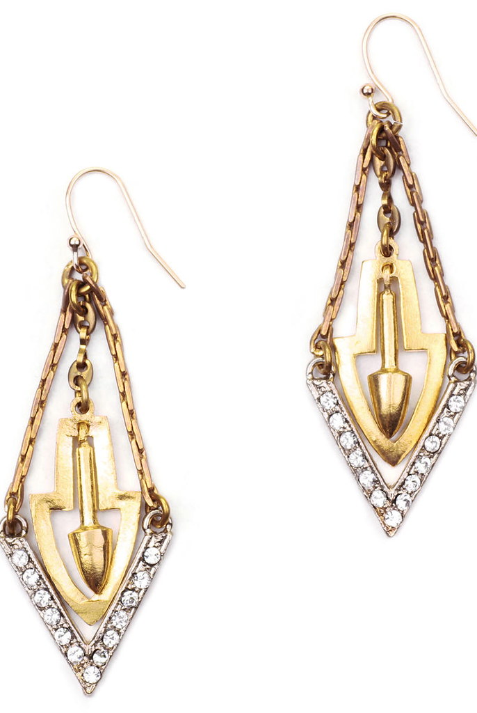 Crystal Guillotine Earrings