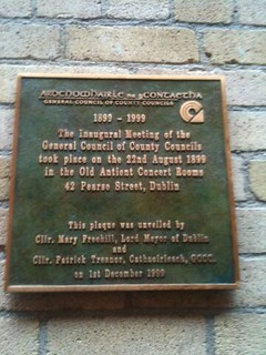 Antient Concert Rooms plaque, Dublin