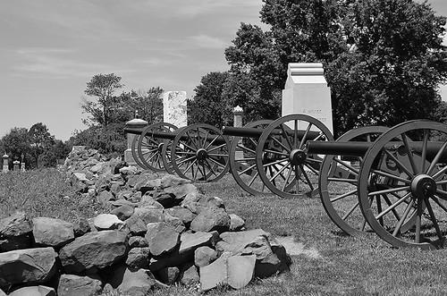 High Water Mark - Pickett's Charge 11 Looking North, Gettysburg, Pennsylvania USA.