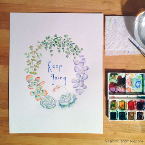 Keep Going Original Watercolor
