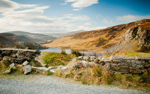 ireland lake stone wall landscape countryside lough ngc gap tay sally valley wicklow