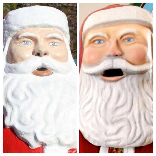 Side-by-side Santas