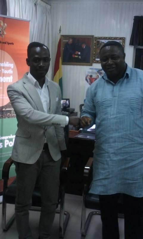 Okyeame Kwame meets Ghana's Sports Minister