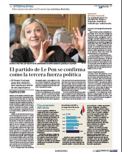 14c31 FN Le Pen Municipales Tercer partido de Francia