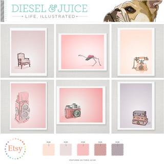 Diesel & Juice on Etsy
