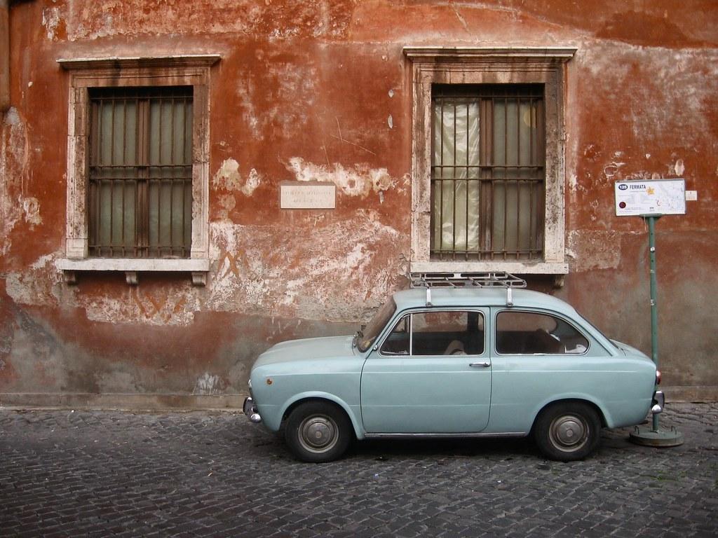 Couleurs dans le quartier du Trastevere à Rome.