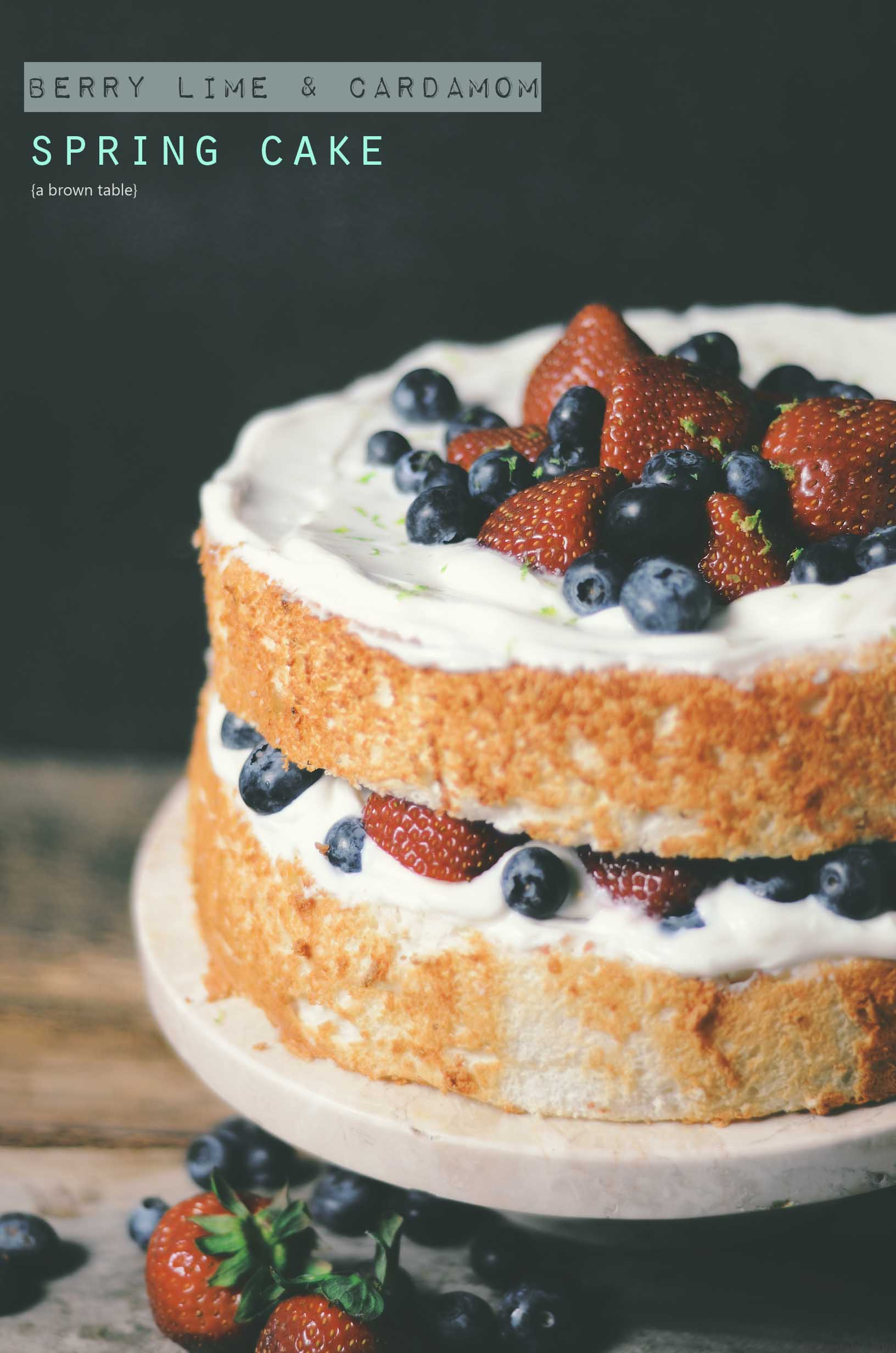 lime berry cardamom cake