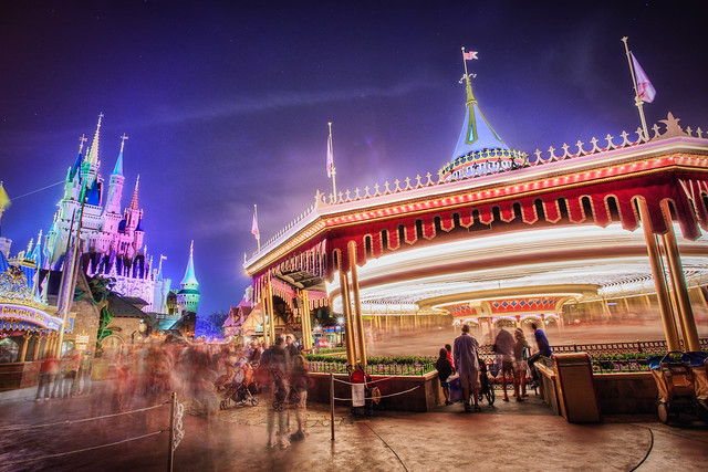 Prince Charming's Regal Carousel at Night