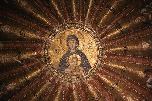 Chora Church mosaic of Mary and Jesus surrounded by the decendents of Jesus
