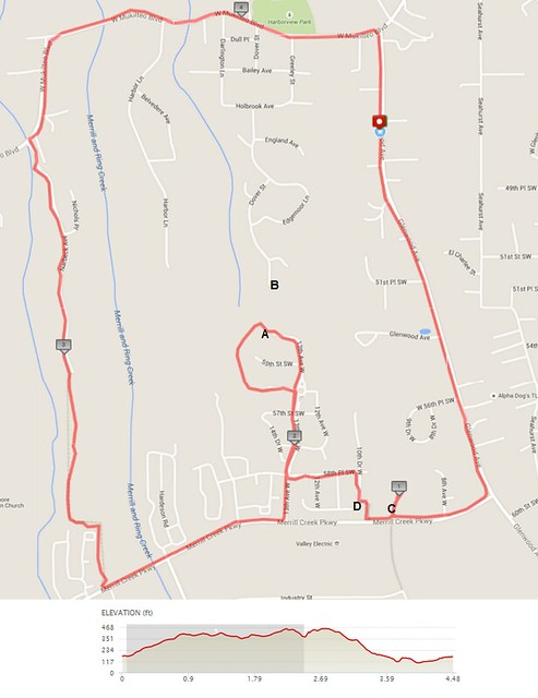 Yesterday's awesome walk, 4.48 miles in 1:30, 9,644 steps, 456ft gain